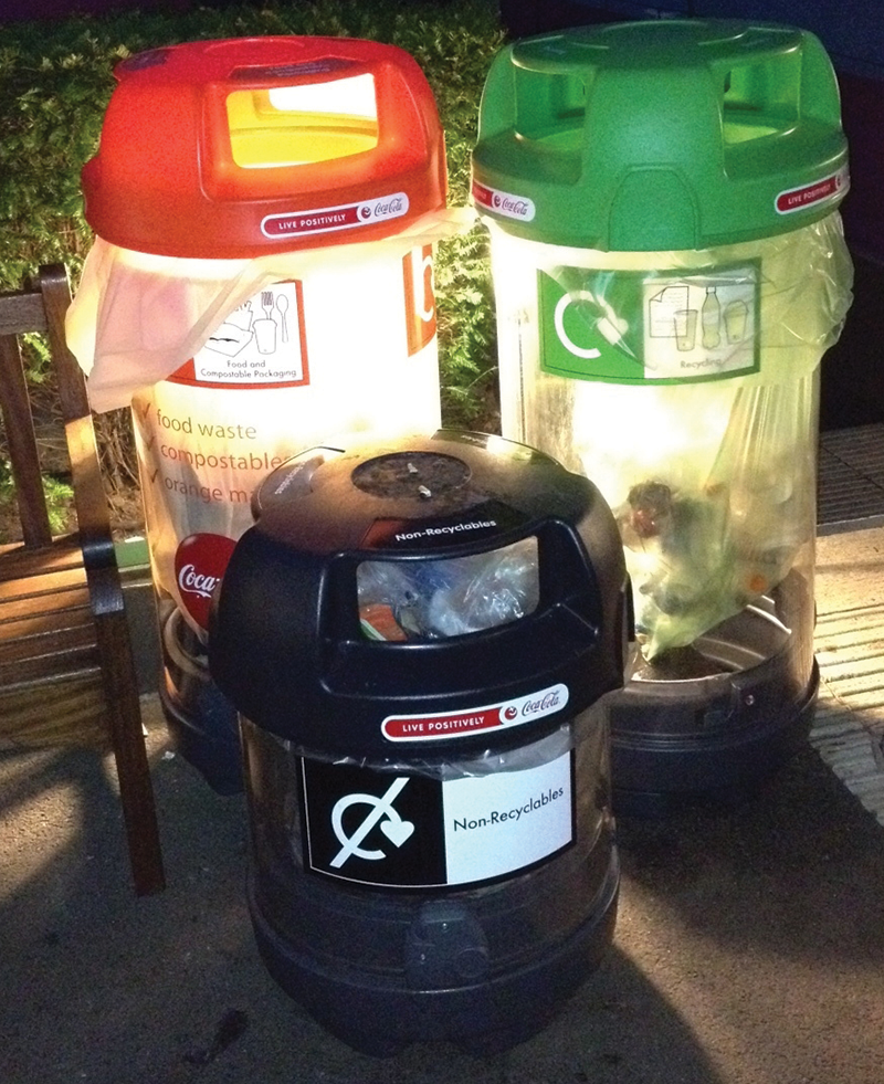 London Olympics waste collection bins