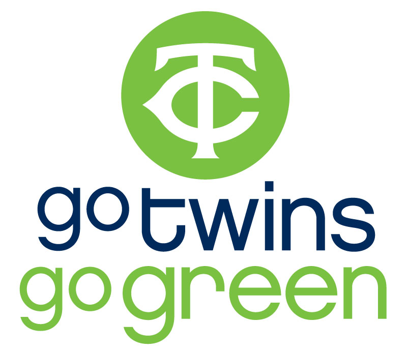 Twins Go Green Logo