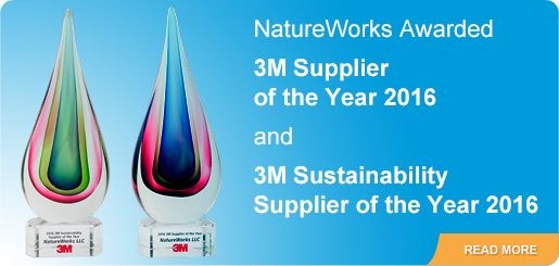Natureworks Awarded Two 3M Supplier Awards