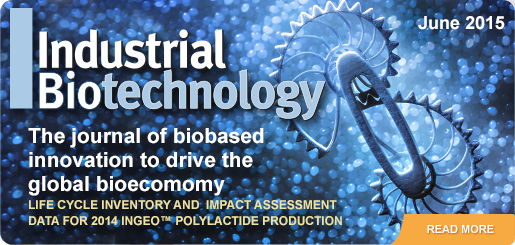 Industrial Biotechnology Magazine featuring an article about Ingeo